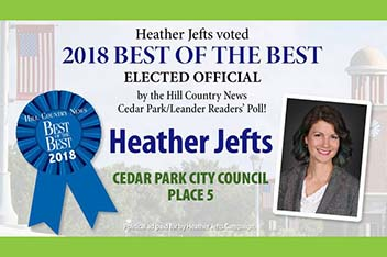 Heather Jefts for Cedar Park
